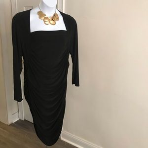 NWOT Beautiful Tahari black dress.